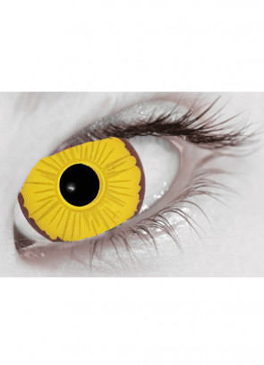 Cosplay Yellow Mini Sclera Contact Lenses (17mm) - 30 Day Wear