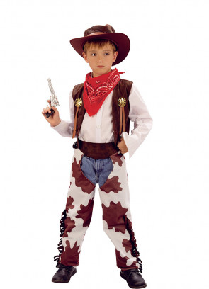 Cowboy Cow-Print Costume Boys