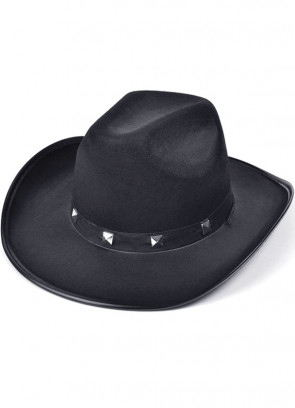 Cowboy Hat Black Studded