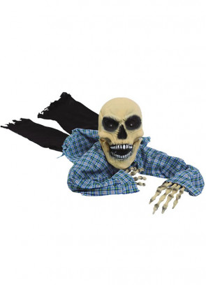 Crawling Skeleton Zombie with Light and Sound 165cm