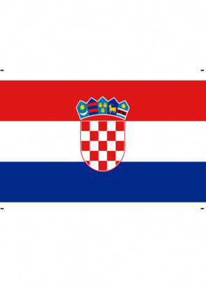 Croatian (Croatia) Flag 5x3
