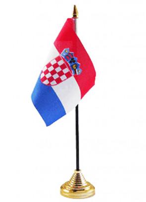 Croatia Table Flag