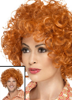 Curly Ginger Afro Wig - Annie