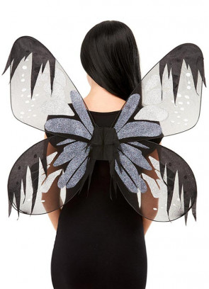 Dark Fairy Wings with Iridescent Glitter Adults 61x66cm