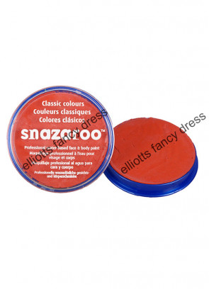 Snazaroo Dark Orange Face Paint - Classic 18ml