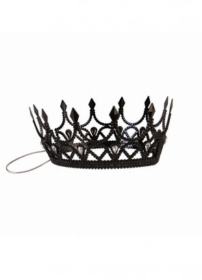 Dark Royalty Black Queen Crown