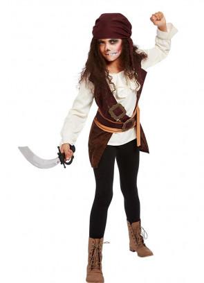 Dark Spirit Pirate Costume Girls