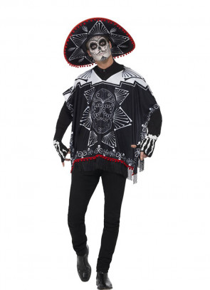 Day of the Dead Bandit Poncho Set