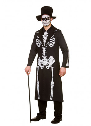 Day of the Dead Skeleton Coat - Mens