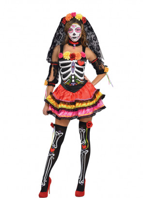 Day of the Dead Senorita (Sexy) Costume