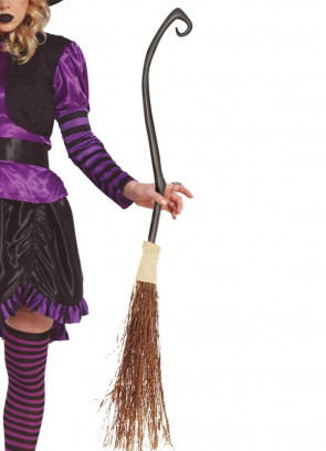 Ornate Curved Witch Broom 115cm
