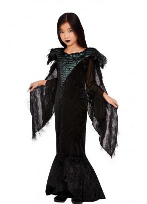 Girls Deluxe Raven Princess Costume