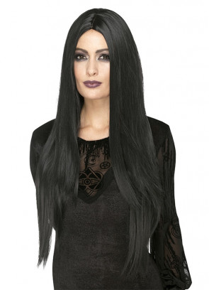 Deluxe Black Witch Wig – Heat Resistant