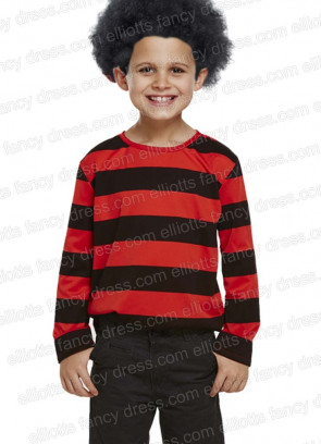 Striped Fright Top (Red & Black)