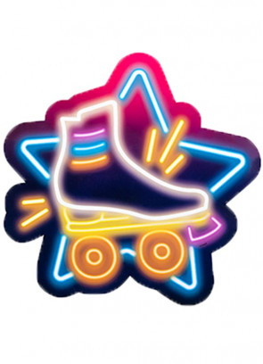 70's Disco Fever Neon Lights Asstd Cut-Outs – Double-sided – 3pk