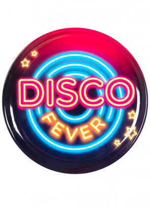 70's Disco Fever Neon Lights Sturdy Serving Tray 34.5cm