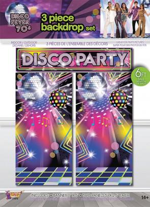 70's Disco Party Backdrop Scene Setter