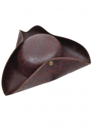 Distressed Brown Pirate Tricorn