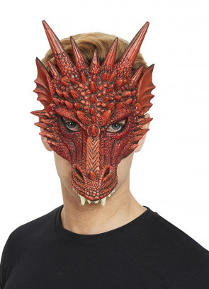 Red Dragon Half Mask – Soft