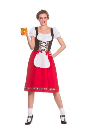 Traditional Bavarian Beer Girl