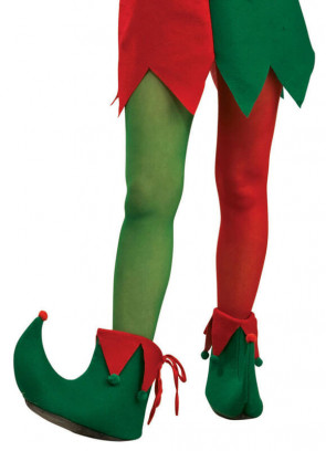 Elf Tights - Green & Red - Dress Size 6-14