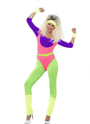 1980's Workout Ladies Costume