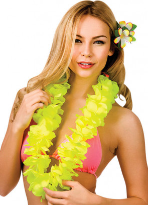 Full Hawaiian Petal Lei Yellow