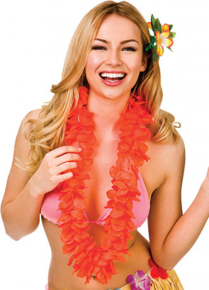 Full Hawaiian Petal Lei Orange