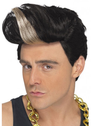 90s Rapper Black / Blonde Wig - Vanilla Ice