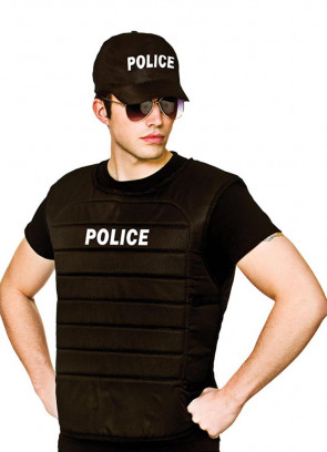 Police Officer Vest and Cap