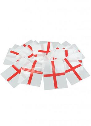 """England Flag Bunting (St Georges Cross) – Plastic Bunting 23ft Long – Flag Size 8"""" x 12"""""""