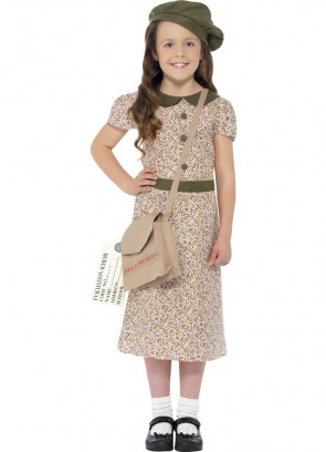 WWII Evacuee Girl - Floral Dress