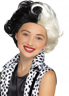Black / White Evil-Madame Wig – Kids