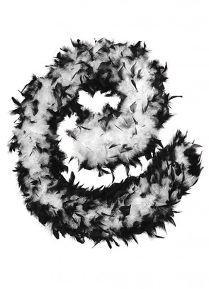 Feather Boa Black & White 80g