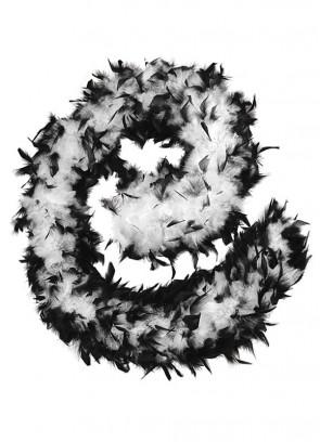 Feather Boa Black & White 80g - 182cm