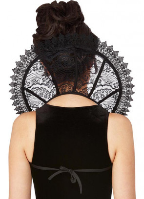 Fever Gothic Lace Stand Up Collar with Black Tie