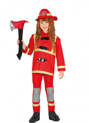 Kids Unisex Firefighter Costume