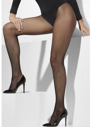 Black Fishnet Tights – Extra Large - Dress Size 16-22