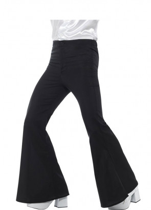 Flared Trousers - Men - Black