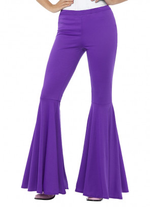 Flared Trousers – Ladies – Purple