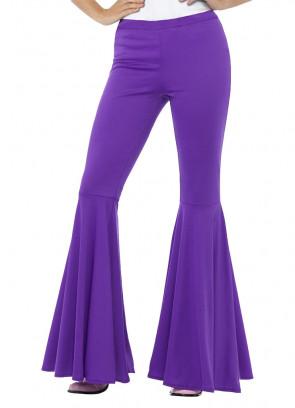 Flared Trousers – Ladies – Purple