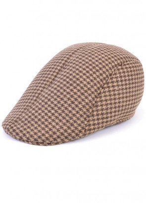 Flat Cap Tweed Brown