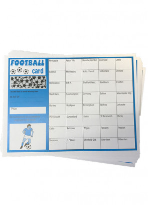 Football Cards -Blue- 40 Teams-10 cards