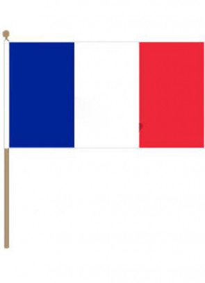 France Hand Flag