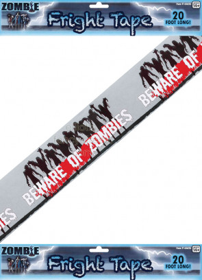 Beware of Zombies' Hazard Tape  Prop