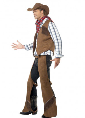Brown Fringe Cowboy Costume