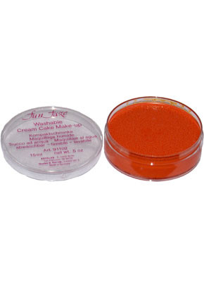 Kryolan Fun Faze Face Paint 15ml Orange Tub