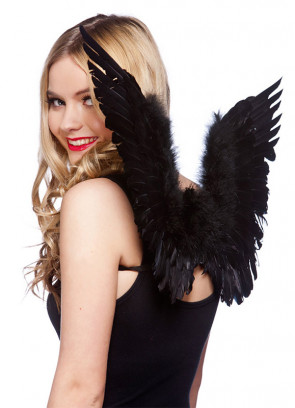 Gabriel Angel Wings Small Black 40x63cm