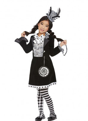 Girls Dark Mad Hatter Costume