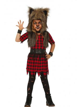 Girls Rebellious Werewolf Costume